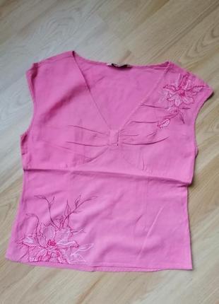 Вышиванка, блуза льняная