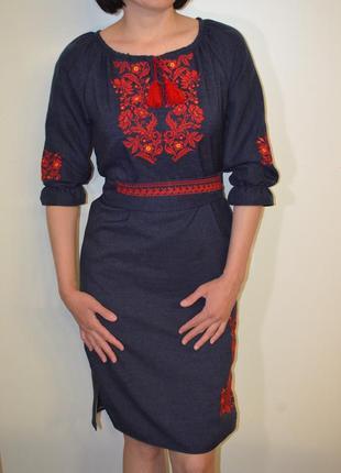 Жіноча вишиванка вышиванка сукня з вишивкою розмір xs