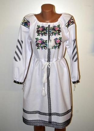 Вишиванка вышиванка сукня з вишивкою вишита сукня розмір xs