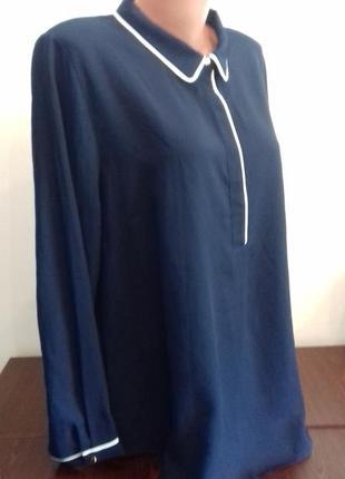 Батальна класична блузка на довгий рукав від dorothy perkins