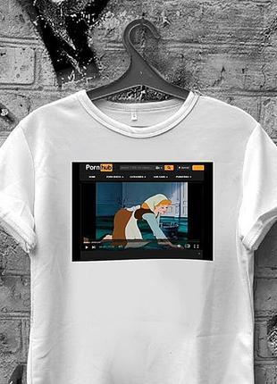 Топовая футболка порнхаб унисекс