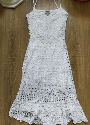 Шикарное платье крючком, вязка