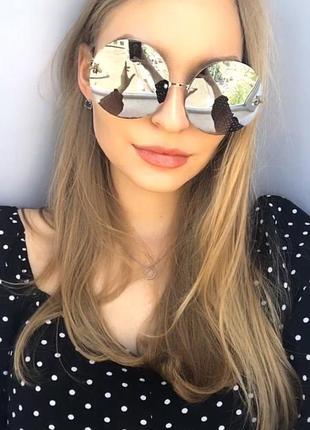 Зеркальные круглые очки