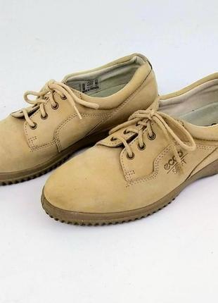 Кроссовки ботинки полуботинки нубук ecco soft
