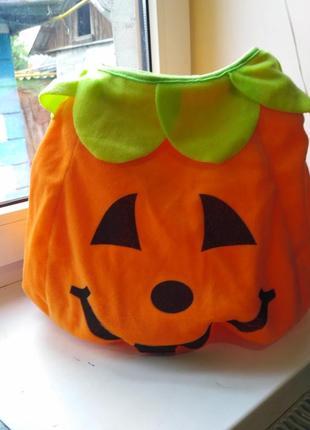 Детский костюм тыква на хелоуин