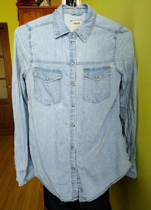 Сорочка джинсова, рубашка джинсовая