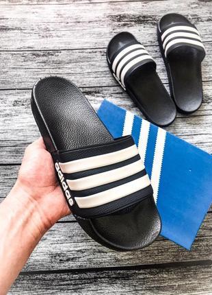Мужские тапочки adidas в черном цвете (40-46)