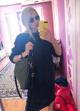 Для тех, кто ценит качество. льняное платье чернильно-синего цвета.3 фото