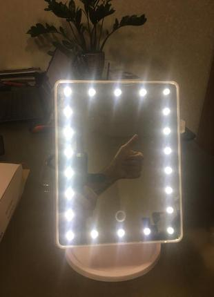 Сенсорное led зеркало для макияжа с подсветкой mirror визажное