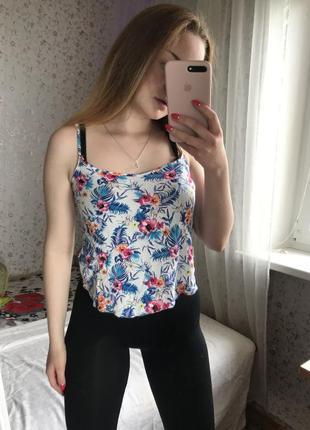 Майка в цветы h&m