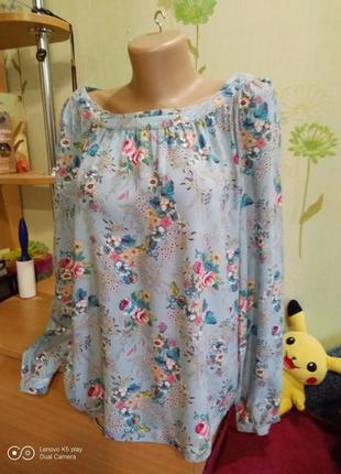 Нежная вискозная блуза -l-xl- от  s.oliver