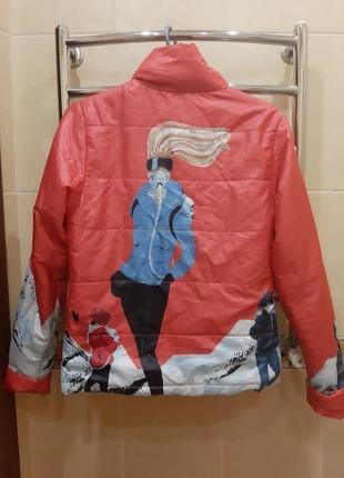 Женская курточка с принтом - распродажа!