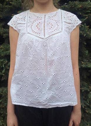 Легкая блуза из прошвы new look