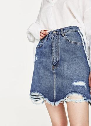 Джинсовая юбка от zara