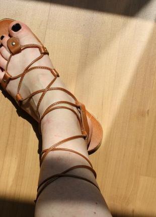 Босоножки гладиаторы topshop кожа 39 размер