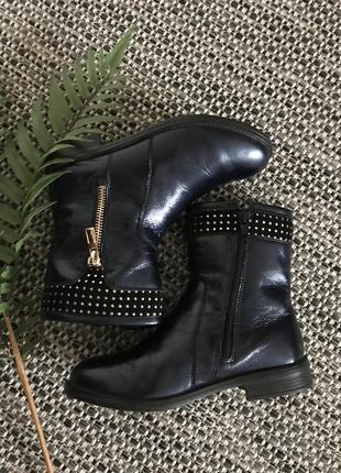 Итальянские кожаные сапоги размер 31