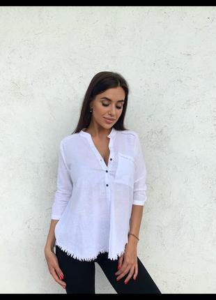 Рубашка женская  ткань: 💯 коттон 🇹🇷  размеры s . m . l. цвета: белый, электрик