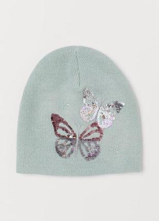 Двойная, шапка, шапочка, двійна, для девочки, для дівчинки, h&m