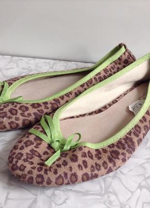 Туфли балетки с кожаной стелькой в стиле zara 36 37 38