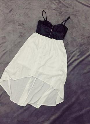 Бомбезне плаття сарафан еко шкіра1 фото