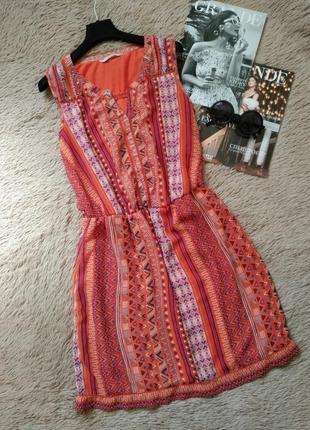 Шикарное яркое платье в орнамент/сарафан
