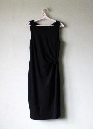 Классическое черное платье миди esprit