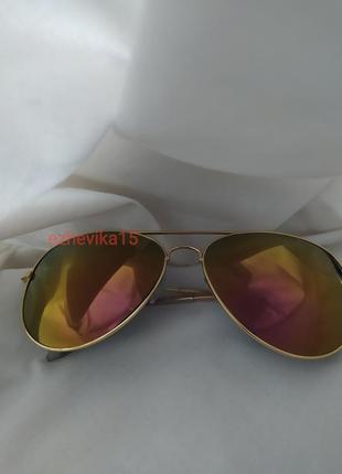 Модные солнцезащитные очки авиаторы хамелеоны желтые стекла оранжевые стекла❗💥