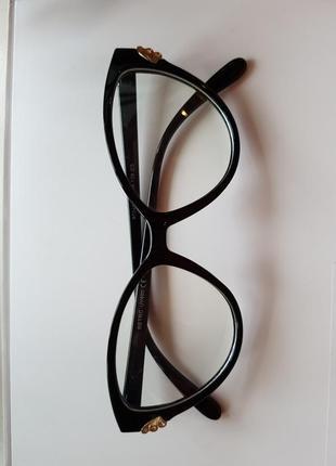 Классные, черные имиджевые очки, нульовки