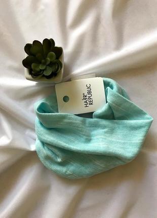 Голубая повязка на голову, качество