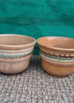 Цена до 25.06 глиняный вазон горшок для цветов старинный антиквариат