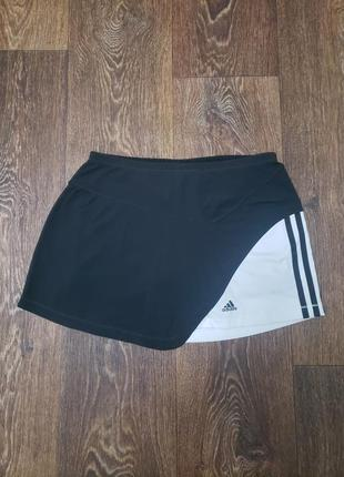 Стильная спортивная юбка шорты 2в1 adidas оригинал