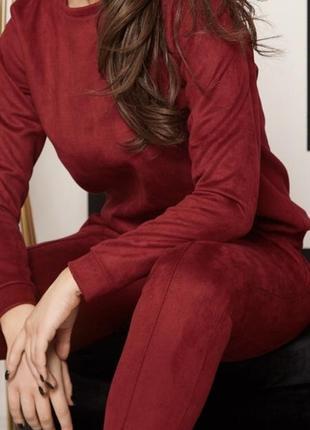 Замшевый костюм цвет марсала2 фото