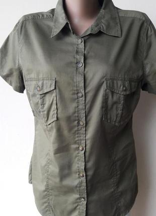 Легкая рубашечка цвета хаки