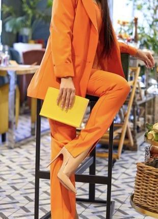 Брючный костюм турция ( оранжевый)