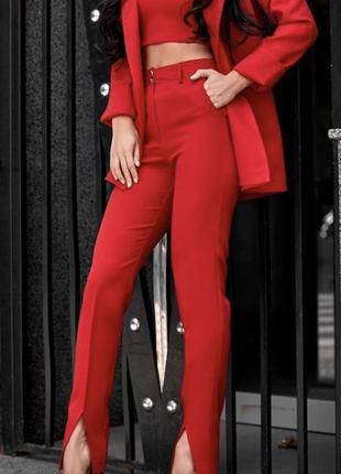 Брючный костюм турция ( красный)