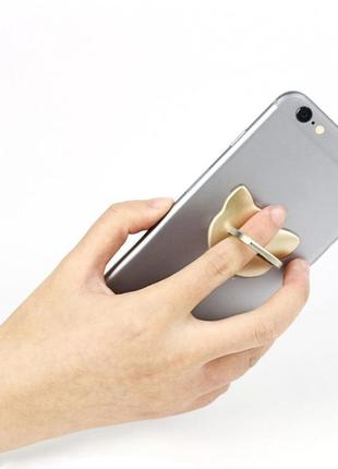 Кольцо-держатель для телефона милый кот