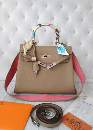 Женская кожаная сумка hermes🔥люкс качество