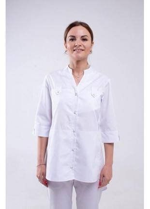 Медицинский топ рубашка белая