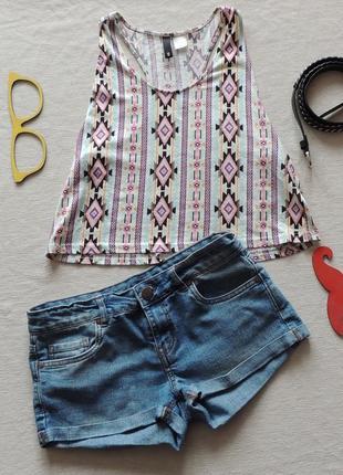 Крутой летний набор, комплект топ+шорты/в идеале /модный принт