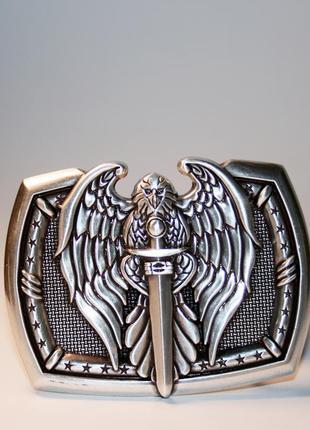 Ремень орел с мечем - кожаный мужской