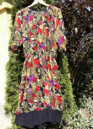 Шифоновое летнее платье/літня сукня в квітковий принт