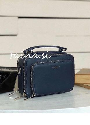 Базовый клатч кроссбоди синий david jones cm3966 оригинал повседневная сумка через плечо