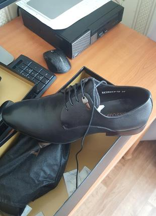 Мужские чёрные кожаные туфли