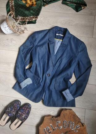 Пиджак жакет блейзер из лёгкого денима