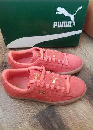 Замшевые кроссовки кеды женские puma suede epik remix, оригинал.