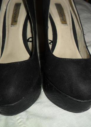 Туфлі високий каблук замш