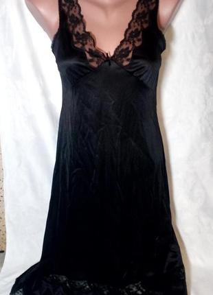 ... Черная сексуальная атласная ночнушка с кружевом  сексуальная ночнушка3  ... 588dd54f0878c