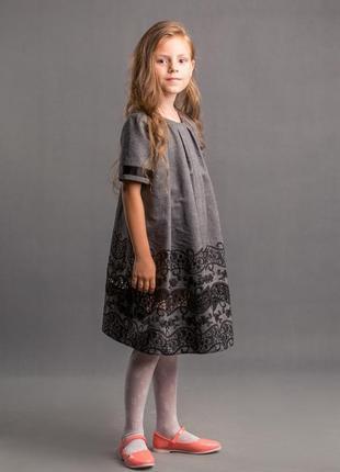 Платье для девочки - лен