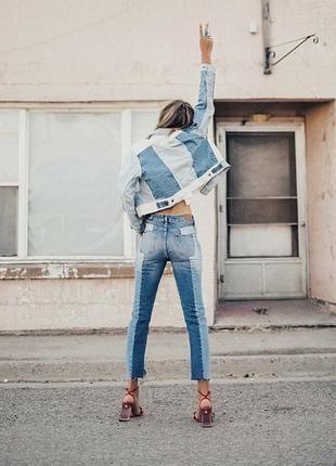 Комбинированные джинсы в идеале s3 фото
