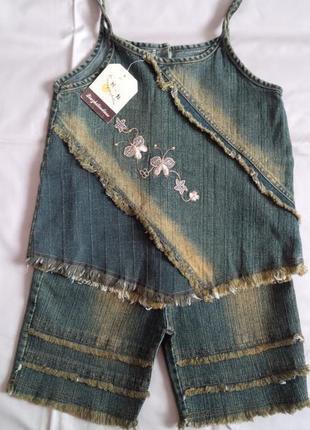 Новые красивые джинсовые наборы для девочек. модель на выбор. sale